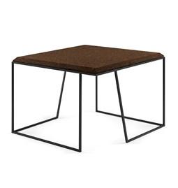 Table basse GRÃO | #2 - liège foncé et piètement noir