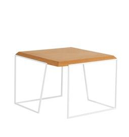 GRÃO | #2 coffee table - light cork and white legs