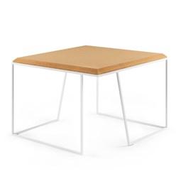 Table basse GRÃO | #2 - liège clair et piètement blanc