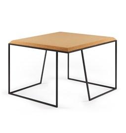 Table basse GRÃO | #2 - liège clair et piètement noir