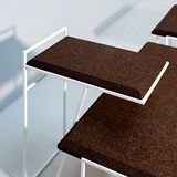 GRÃO | #3 coffee table - dark cork and white legs  6