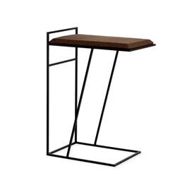 GRÃO | #3 coffee table - dark cork and black legs