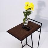 GRÃO | #3 coffee table - dark cork and black legs  8