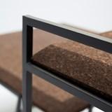 GRÃO | #3 coffee table - dark cork and black legs  6