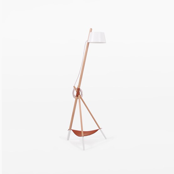 Floor reading KA Functional Lamp M - white - Design : WOODENDOT