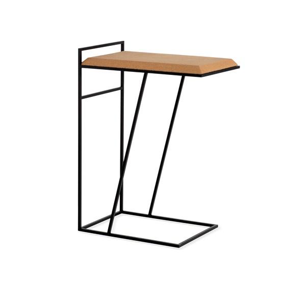 GRÃO | #3 coffee table - light cork and black legs - Design : Galula Studio
