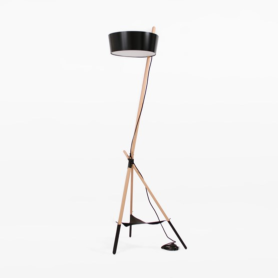 Lampe de sol KA Functional Lamp XL - noir - Design : WOODENDOT