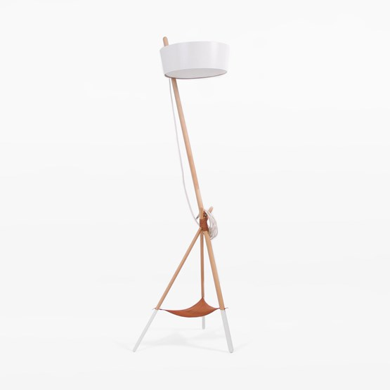 Lampe de sol KA Functional Lamp XL - blanc - Design : WOODENDOT