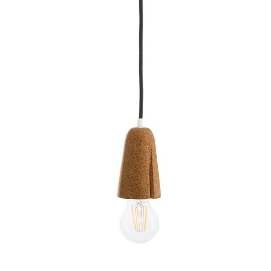 Suspension SININHO -  liège clair et câble noir - Design : Galula Studio