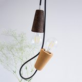 SININHO | pendant lamp - light cork and black cable 4