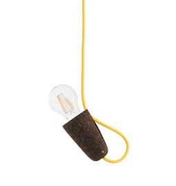 SININHO | pendant lamp - dark cork and yellow cable