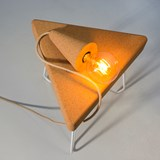 SINO POSE | hand lamp -  light cork and beige cable 4