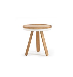 Small BATEA Tray table - oak/white