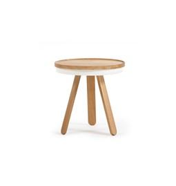 Table basse à plateau BATEA S - chêne/blanc