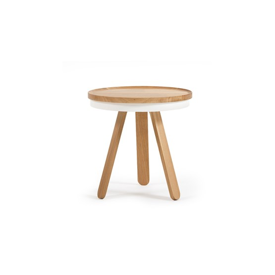 Small BATEA Tray table - oak/white - Design : WOODENDOT