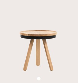 Table basse à plateau BATEA S - chêne/noir