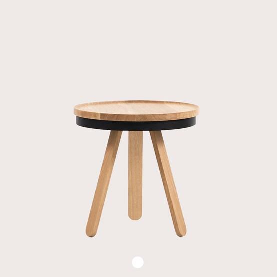 Table basse à plateau BATEA S - chêne/noir - Design : WOODENDOT