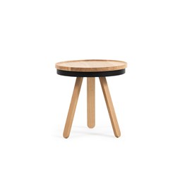 Small BATEA Tray table - oak/black