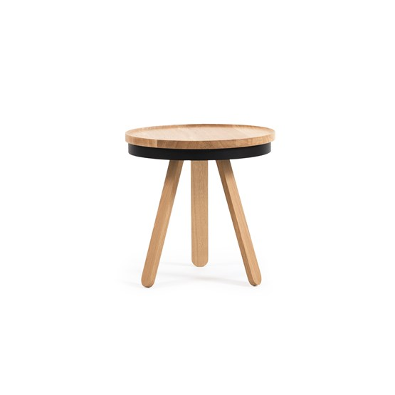 Small BATEA Tray table - oak/black - Design : WOODENDOT