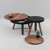 Table basse à plateau BATEA S - noyer/noir  4