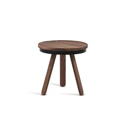 Small BATEA Tray table - walnut/black