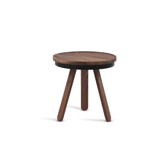 Table basse à plateau BATEA S - noyer/noir  - Design : WOODENDOT
