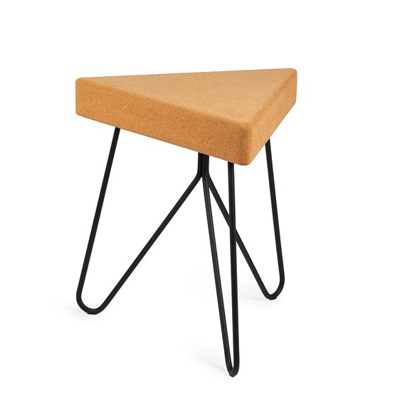 TRES | stool or table -  light cork and black legs  - Design : Galula Studio