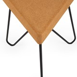 TRES | stool or table -  light cork and black legs  7