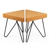 TRES | stool or table -  light cork and black legs  8