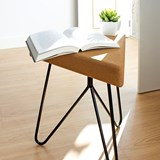 TRES | stool or table -  light cork and black legs  2