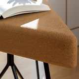 TRES | stool or table -  light cork and black legs  3