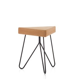 TRES | stool or table -  light cork and black legs