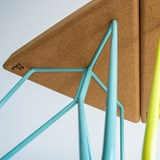 TRES | stool or table -  light cork and yellow legs 5