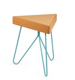 TRES | stool or table -  light cork and blue legs