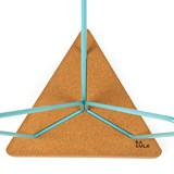 TRES | stool or table -  light cork and blue legs 7