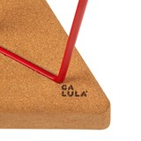 TRES | stool or table -  light cork and red legs 7