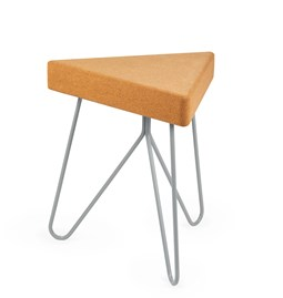 TRES | stool or table -  light cork and grey legs