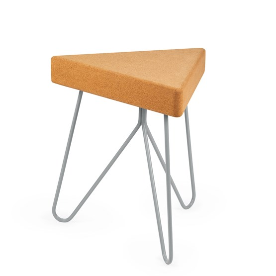 TRES | stool or table -  light cork and grey legs - Design : Galula Studio