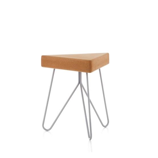 TRES | stool or table -  light cork and grey legs - Design : Galula Studio