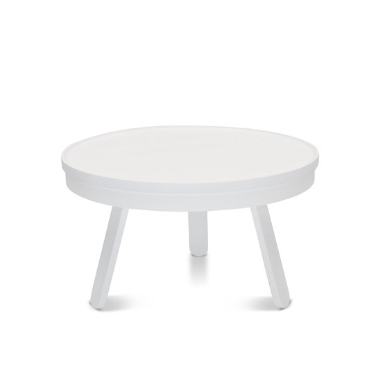Table basse BATEA M - blanc - Design : WOODENDOT