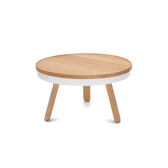 BATEA M coffee table - oak/white - Design : WOODENDOT