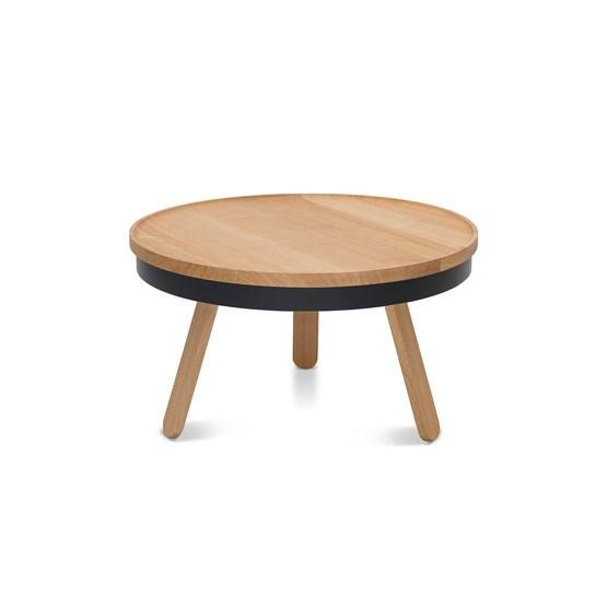 BATEA M coffee table - oak/black - Design : WOODENDOT