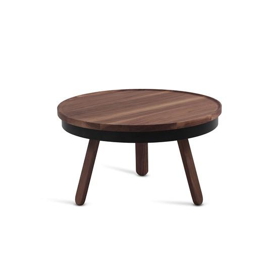 Table basse BATEA M - noyer/noir  - Design : WOODENDOT