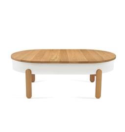 Table basse BATEA L - chêne/blanc