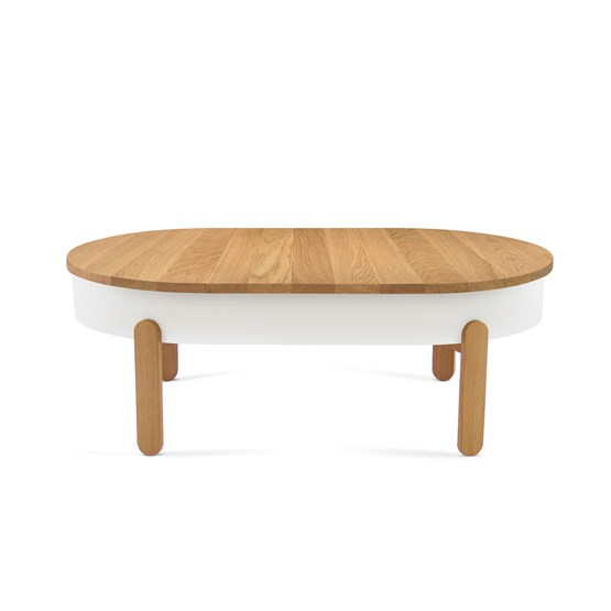 BATEA L coffee table - oak/white - Design : WOODENDOT