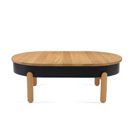 BATEA L coffee table - oak/black