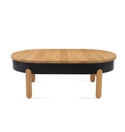 Table basse BATEA L - chêne/noir