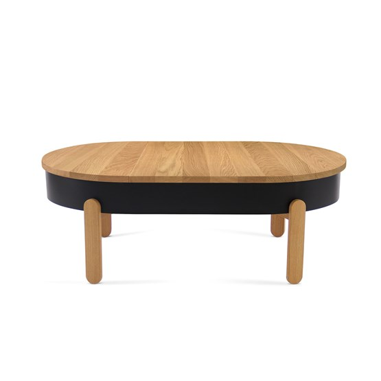 Table basse BATEA L - chêne/noir - Design : WOODENDOT