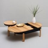 Table basse BATEA L - chêne/noir 3