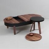 BATEA L coffee table - walnut/black 5